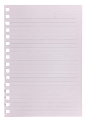 Blank notepaper isolated on white