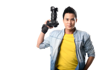 Handsome Vietnamese photographer