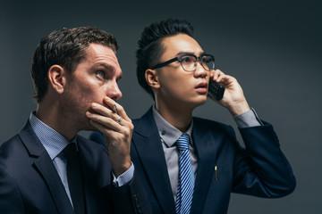 Anxious financial brokers