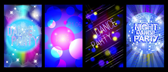 Dance flyer set, vector, eps 10