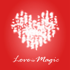 Magical dream heart in Valentine's Day