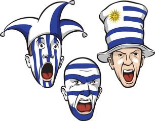 football fans from Uruguay
