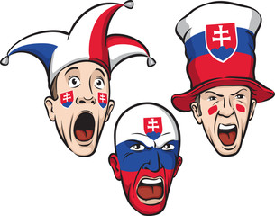 football fans from Slovakia