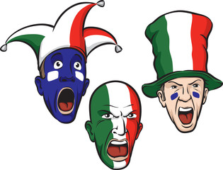 football fans from Italy