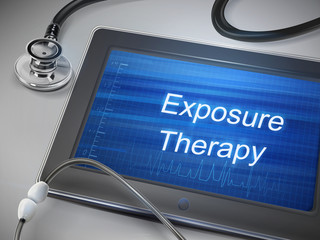 exposure therapy words display on tablet