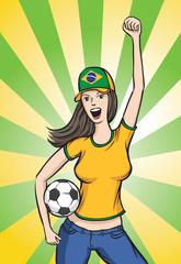 Soccer Brazil Fan Girl