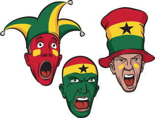 football fans from Ghana