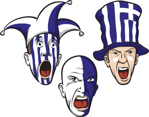 football fans from Greece