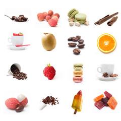 composition café desserts