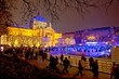 Zagreb christmas ice park evening view - 75219335