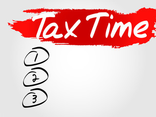 Tax Time Blank List, vector concept background