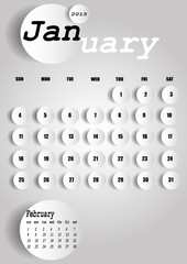 Vector 2015 Calendar Design - January