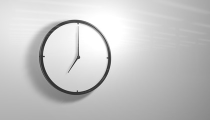 Black and White Office Clock 3d