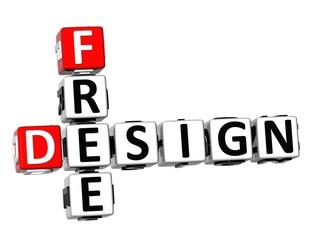 3D Crossword Free Design on white background