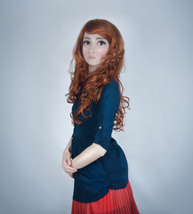 Girl doll with red hair
