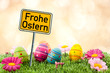 Ostern mit Schild