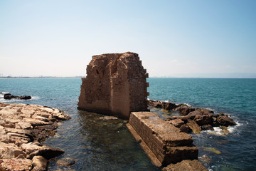 Remains of ancient harbor