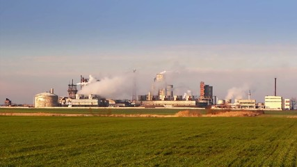 Industrial process plant that manufactures chemicals