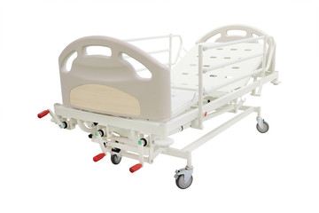 mobile medical bed isolated