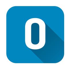 Letter o alphabet, flat icon
