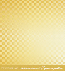 eps Vector image:cloisonne enamel Japanese pattern