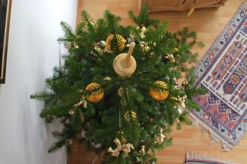Weihnachtsbaum aus Vogelperspektive