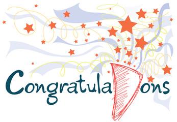 Congratulations graphic card design
