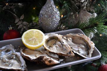Huîtres à Noël et au réveillon du Jour de l'An