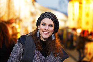Woman portrait at evening