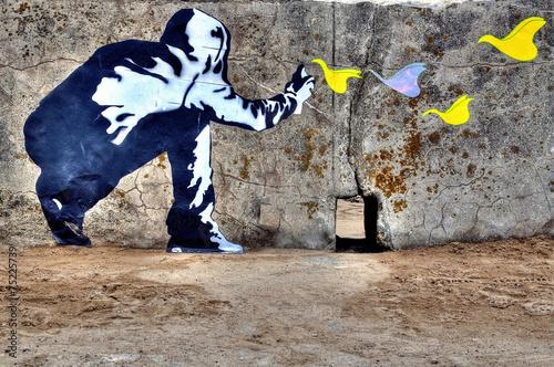 Graffiti liberté Poster