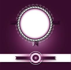 paper work mirror shape ribbons purple back