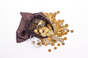 bag with golden coins