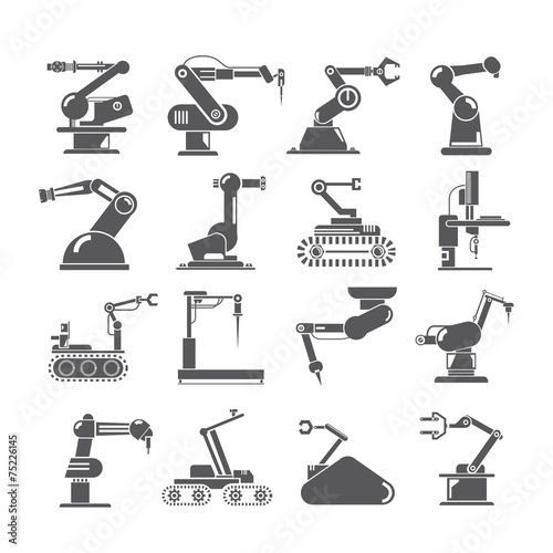 industry robot icons - 75226145
