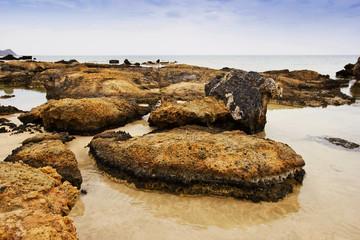 beach with big rocks, Crete, Greece
