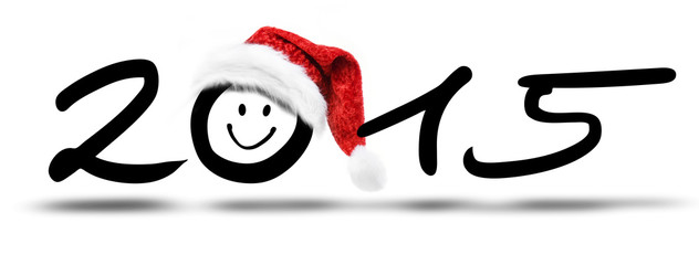 New Year 2015 mit Weihnachtsmütze