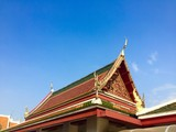 thai architecture of temple poster