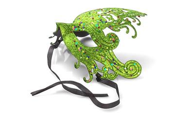 Green Carnival Mask