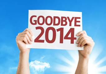 Goodbye 2014 card with a beautiful day