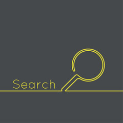 Search with a magnifying glass.