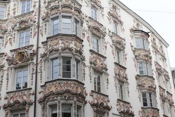 Classic Austrian architecture in Innsbruck, Austria