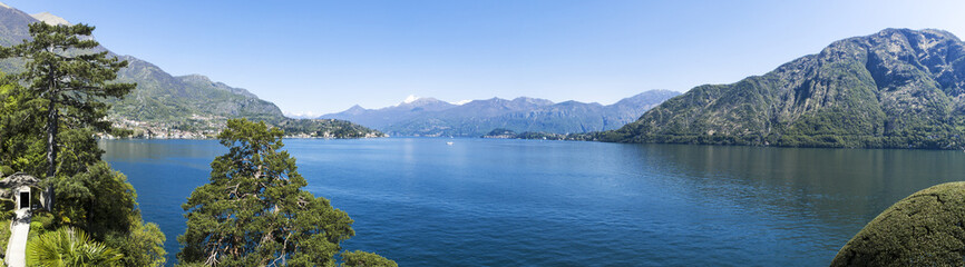 Como lake, landscape in spring season
