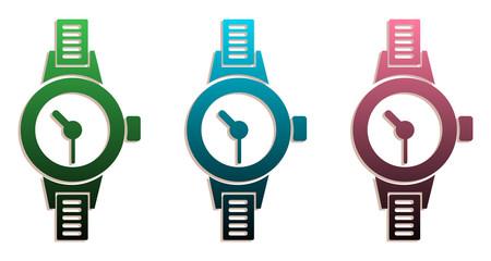 Set of three watches