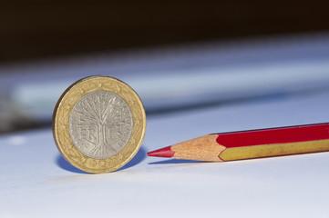Euro Frankreich Rotstift