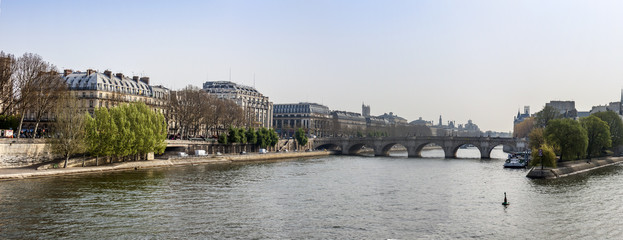 Paris, France. A view of Seine, and its embankments