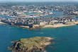 Saint Malo from the sky (aerial view)