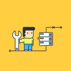 network engineer repair server