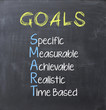 Leinwanddruck Bild - Smart goals on blackboard