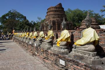 Ayutthaya, TH - Jan 12, 2014: Wat Yai Chai Mongkon