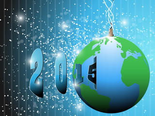 earth happy new year 2015