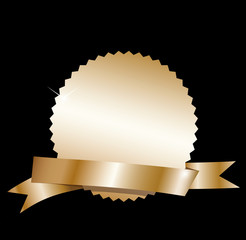 Blank gold label.